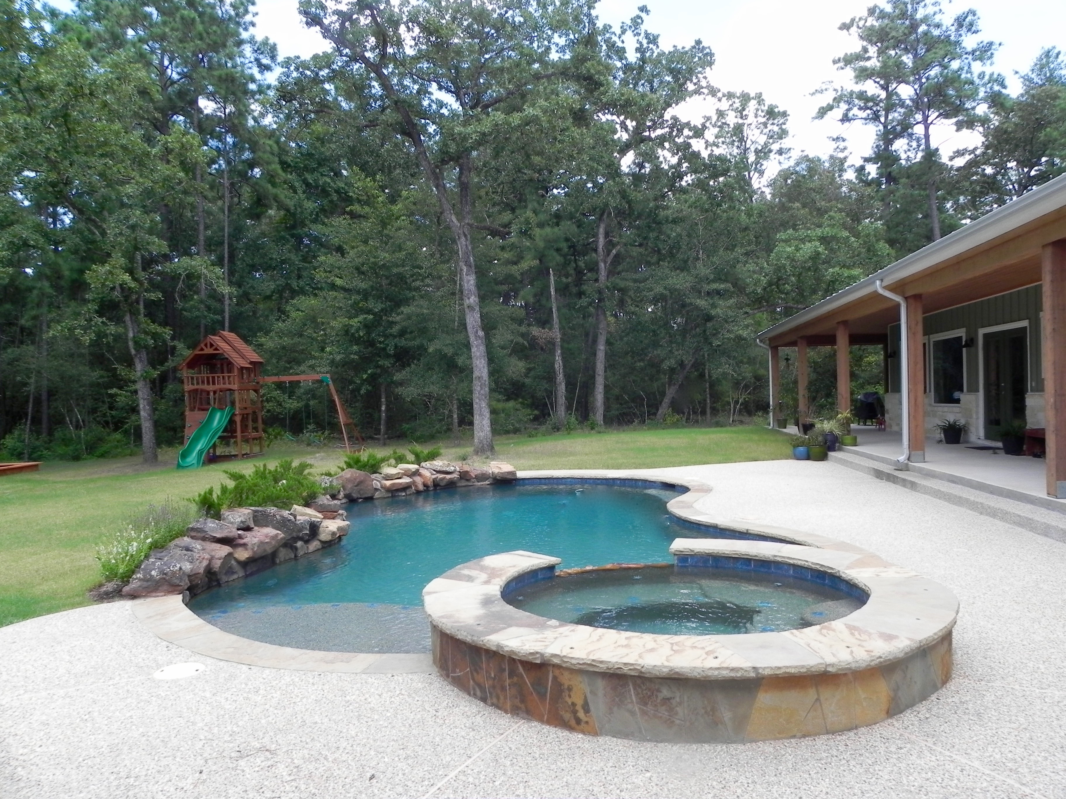 Outdoor oasis obchinc com for Garden oases pool entrance